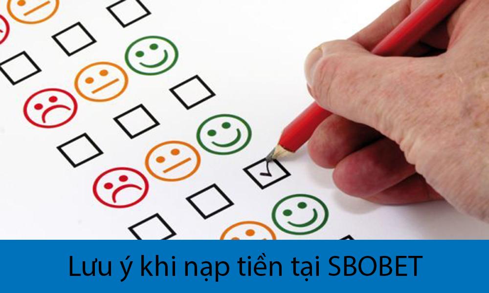 Lưu ý khi nạp tiền tại SBOBET mà bạn nên biết